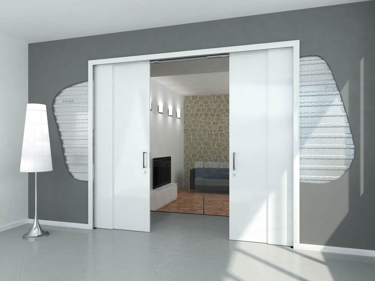 Puertas dobles correderas materiales de construcci n para la reparaci n - Puertas correderas casoneto ...